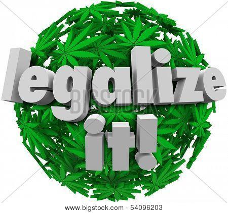 Legalize It Marijuana Leaf Ball Medicinal Vote