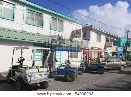 At the street of San Pedro, Belize