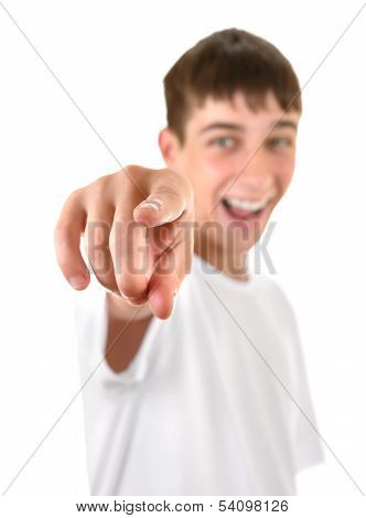 Teenager Pointing At You