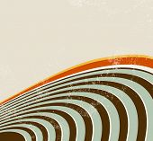Retro lines - abstract radio waves background - 70s music poster