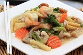 Stir fried yellow noodle with in a creamy gravy sauce (Koy Se Mie) poster