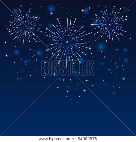 Firework in blue sky