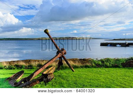 Old And Rusty Anchor From Warship