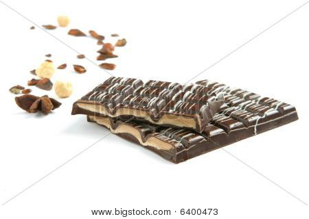 Bar Of Chocolate - Isolated On White