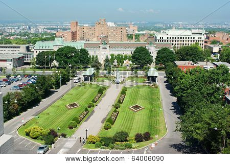 Front Garden Outside St. Joseph's Oratory In Montreal