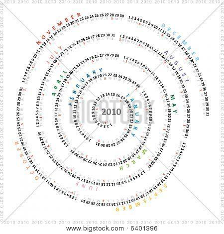 Creative swirl calendar 2010