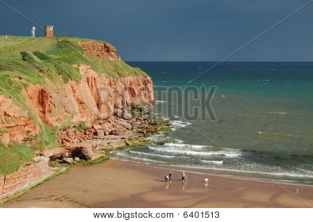 Sandstone Cliffs & Sandy Beach