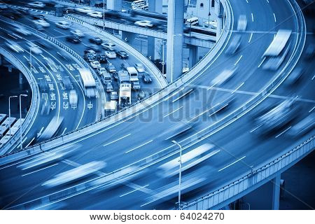 Busy Traffic Closeup And Road Accident