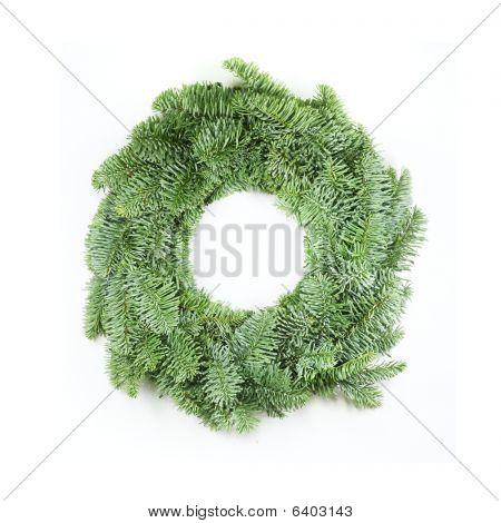 Christmas Wreath On White