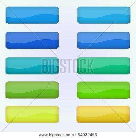 Colorful vector buttons