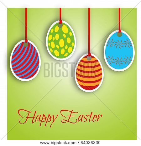 Happy Easter Card With Eggs