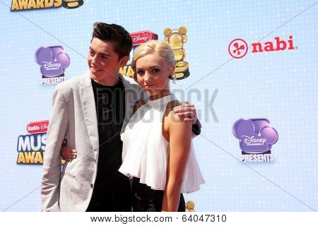 LOS ANGELES - APR 26:  Spencer List, Peyton List at the 2014 Radio Disney Music Awards at Nokia Theater on April 26, 2014 in Los Angeles, CA