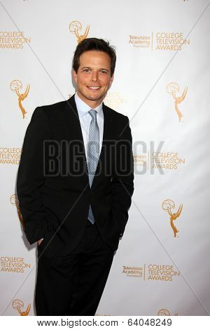 LOS ANGELES - APR 23:  Scott Wolf at the 35th College Television Awards at Television Academy on April 23, 2014 in North Hollywood, CA