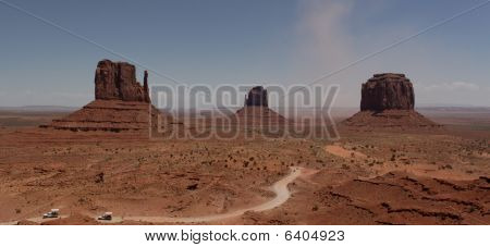 Monument valley on a sunny summer day.