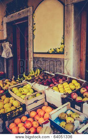 Vintage European Fruit Market