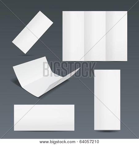Set of templates for a leaflet or flyer
