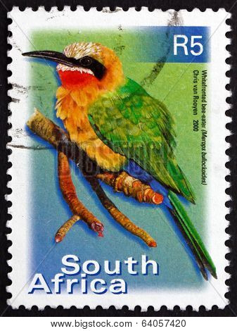 Postage Stamp South Africa 2000 White-fronted Bee-eater, Bird