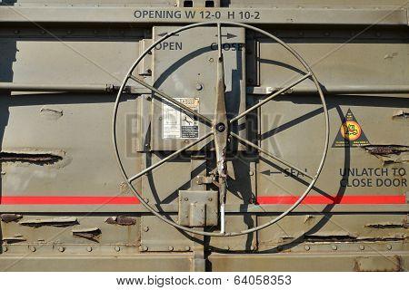 Freight Car Door Mechanism