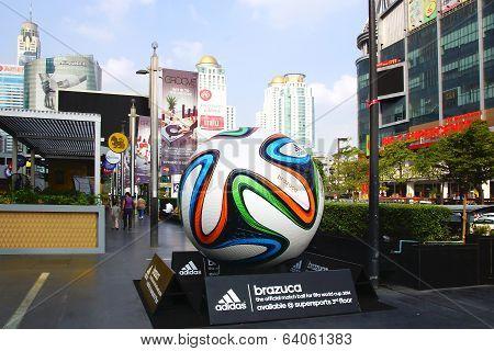 The Adidas Brazuca ball, Bangkok