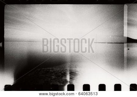Abstract seascape. Original film shot. poster