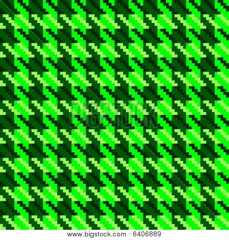 Green hounds tooth check fabric