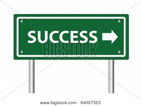 Creative Sign With The Text - Success