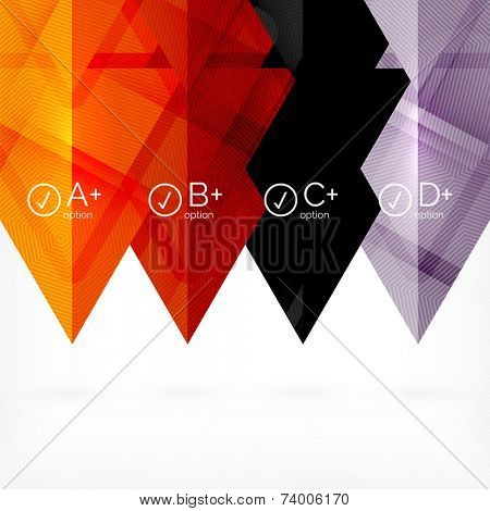 Hi-tech geometric futuristic business background - trendy trianlge infographic layouts poster