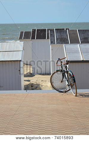 Bike On A Seafront Promenade