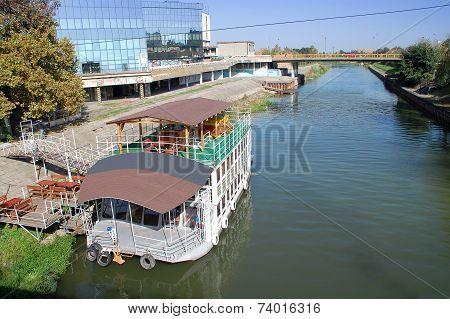 Tourist Boat Restaurant On The River Begej