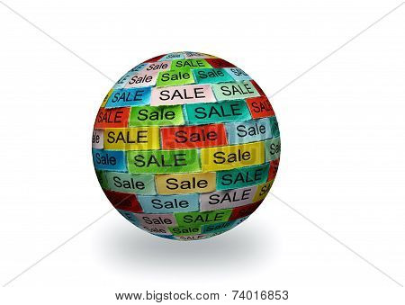Sale  Tagcloud 3D Sphere
