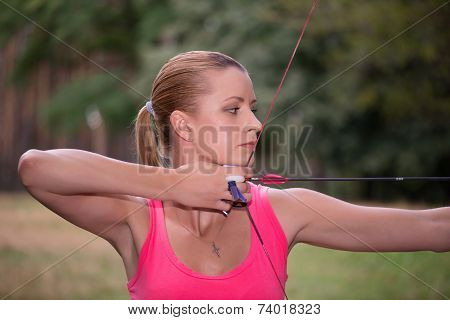 Woman with the bow