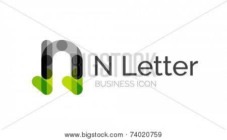 Minimal font or letter logo design isolated on white poster