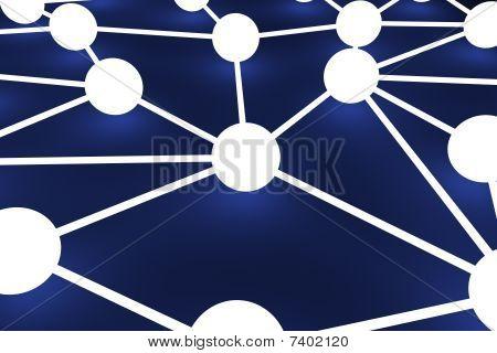 3D rendered Illustration. Image of a network node. poster