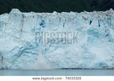 Calving Ice on Meares Glacier