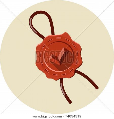 Vector Approved Wax Seal