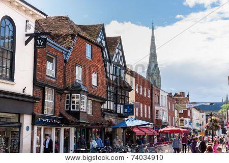 People Visiting Salisbury