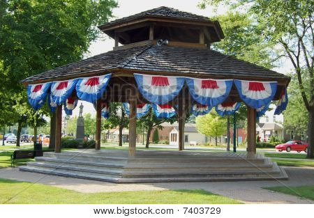 Bandstand With Bunting