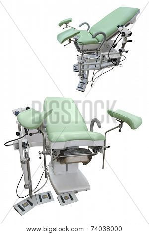 Interior of a gynaecologist chair
