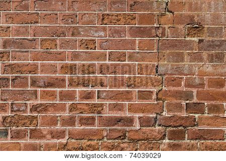 The exterior brick wall of a 17th century stately home in England poster