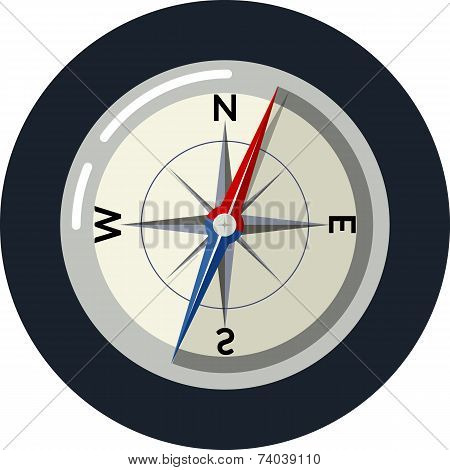 Compass rose Vector illustration in flat style eps 10 poster