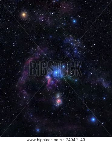 Shining Stars Of Orion