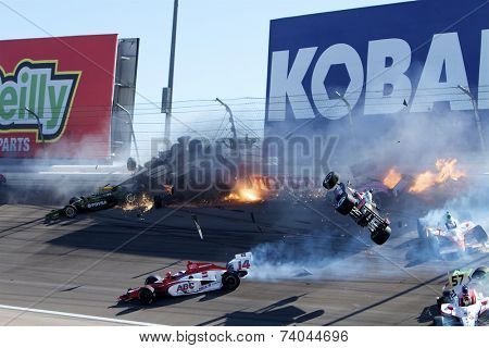 Las Vegas, NV - Oct 16, 2011:  Dan Wheldon, the 2011 Indianapolis 500 winner and one of the most popular drivers in open-wheel racing, died at Las Vegas Motor Speedway in a horrific multi car crash.