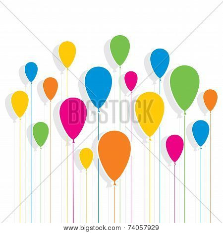 colorful balloon design pattern background vector