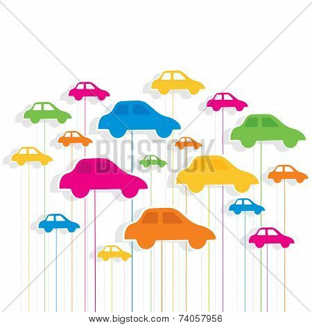 creative colorful car pattern background vector