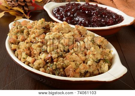 Turkey Stuffing And Cranberry Sauce