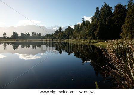 Natural beauty of Lake Mathieson.