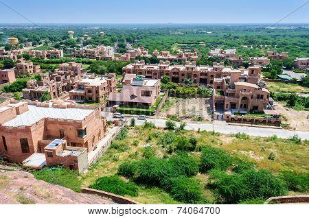 View Of Jodhpur City From Umaid Bhawan
