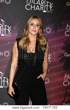 LOS ANGELES - OCT 17:  Julianna Guill at the Hilarity for Charity Benefit for Alzheimer's Association at Hollywood Paladium on October 17, 2014 in Los Angeles, CA