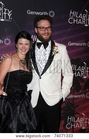 LOS ANGELES - OCT 17:  Stephanie Buffaloe, Seth Rogen at the Hilarity for Charity Benefit for Alzheimer's Association at Hollywood Paladium on October 17, 2014 in Los Angeles, CA