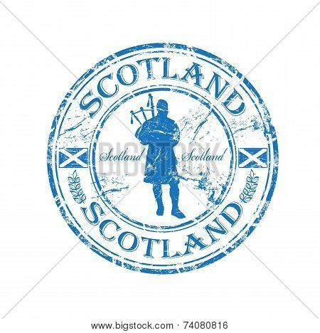 Scotland grunge rubber stamp